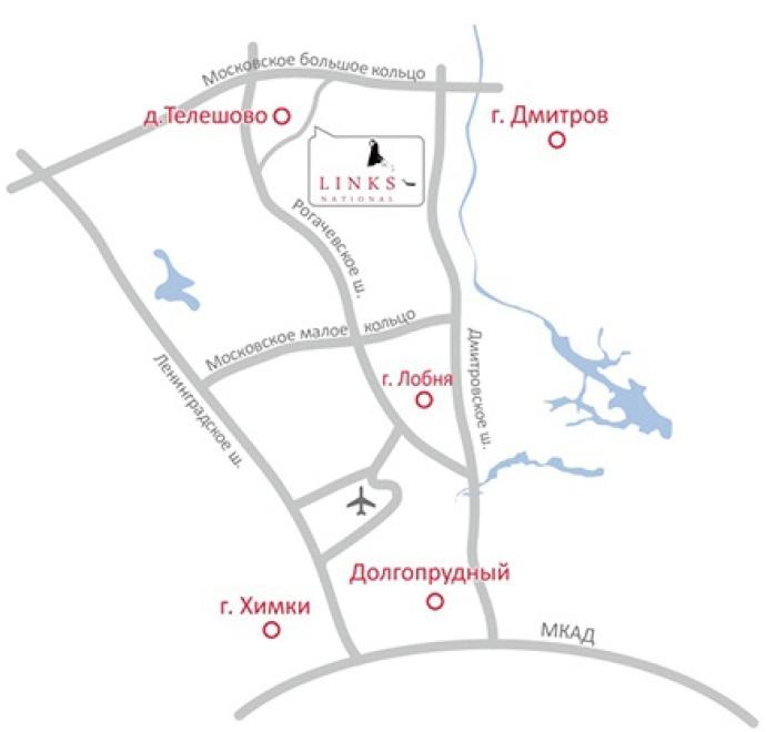 Схема проезда в «Links