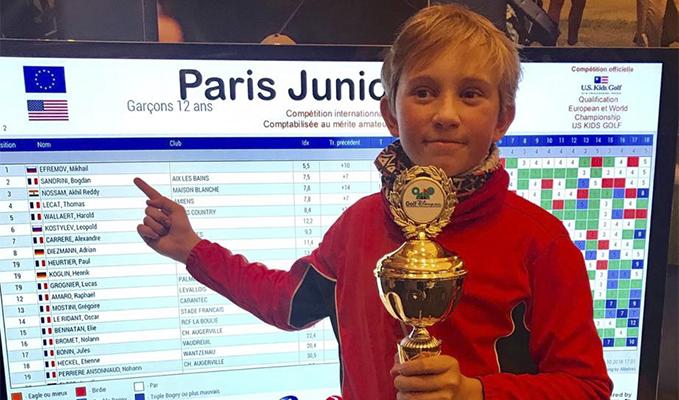 Победа 12-летнего Михаила Ефремова на этапе U.S. Kids в Париже